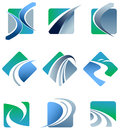 Abstract trail logo set