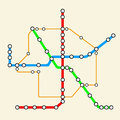 Road infographics. Noted on various objects map. Abstract transportation hub. The intersections of various roads
