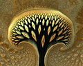 Abstract tree d with intricate geometry Royalty Free Stock Photos