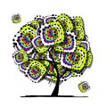 Abstract tree, ethnic ornament for your design