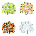 Abstract tree - graphic elements - Four Seasons Royalty Free Stock Photo