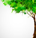 Abstract tree green forming by blots Stock Photography