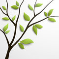 Abstract tree green leaves vector illustration Stock Photography