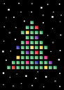 Abstract tree made of colored squares vector Royalty Free Stock Photography