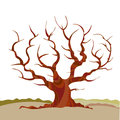 Abstract tree silhouette vector illustration. Royalty Free Stock Photo