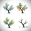 Abstract tree in spring summer autumn winter graphic the illustration represents four seasons and the those seasons Stock Photography