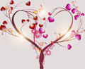 Abstract tree symbolizing love Stock Photos