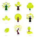 Abstract trees vector set Royalty Free Stock Photography