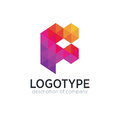 Abstract trend polygon letter F logo design template.