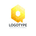 Abstract trend polygon letter Q logo design template.