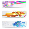 Abstract trendy  banner or header set. Royalty Free Stock Photo