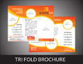 Abstract tri fold brochure concept vector illustration Stock Images