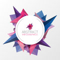 Abstract triangle background with circle for your text. Vector Royalty Free Stock Photo