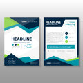 Abstract triangle Blue green purple polygon annual report Leaflet Brochure Flyer template design, book cover layout design Royalty Free Stock Photo