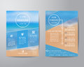 Abstract triangle brochure flyer design layout template in A4 si Royalty Free Stock Photo