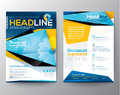 Abstract Triangle design vector template layout for magazine