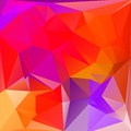 Abstract triangle geometric square colorful background Royalty Free Stock Photo