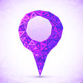 Abstract triangle geometry violet vector map location pointer Royalty Free Stock Images
