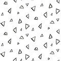 Abstract triangle ink imitation seamless pattern