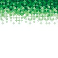 Abstract triangle mosaic green background design
