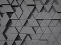 Abstract triangle shape background in gray color random position