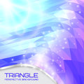 Abstract triangle wave background going to the perspective vector illustration Stock Photo