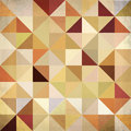 Abstract triangles vintage colors background beige vector Stock Photography