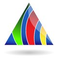 Abstract triangular icon you can use in the creative design concepts vector illustration Royalty Free Stock Images