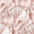 Abstract tropical foliage seamless pattern