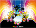 Abstract Tropical and latin music event background Royalty Free Stock Photo