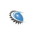 Abstract turbine logo