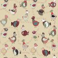 Abstract turkey bird, chicken and pigeon Royalty Free Stock Photo