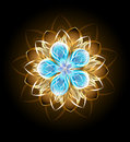 Abstract Turquoise Flower