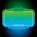 Abstract turquoise neon sign vector background for your text Stock Images
