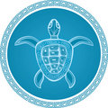 Abstract turtle  symbol Stock Images