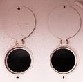 Bulleye portholes open round shutters abstract Royalty Free Stock Photo