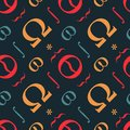 Abstract typographic symbols seamless pattern