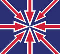 Abstract UK flag Stock Images
