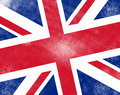Abstract uk flag Stock Photo