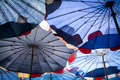 Abstract under big umbrella Royalty Free Stock Photo