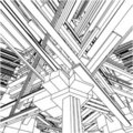 Abstract Urban City Buildings In Chaos Vector 153 Royalty Free Stock Photo