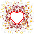 Abstract Valentine card with scrolls, heart shape, circles - vec Royalty Free Stock Images