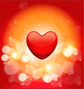 Abstract valentines day background with hearts Stock Image