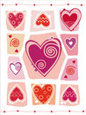 Abstract Valentines Day design with Heart. Stock Images