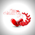 Abstract Valentines day heart in gray background f Royalty Free Stock Photo
