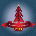 Abstract vector background with christmass tree Stock Photography