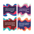 Abstract vector background colored waves abstract vector pattern set from four object abstract vector banners quotations on Stock Images