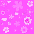 Abstract vector background with flowers vestor illustration seamless texture Royalty Free Stock Photos