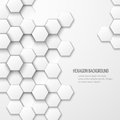 Abstract vector background with hexagon elements business pattern geometric cover white texture illustration Stock Image