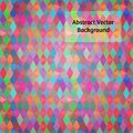 Abstract vector background intersecting rhomb shapes of varied colors and opacity Stock Photography